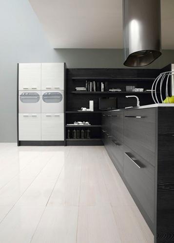 Contemporary Black And White Kitchen – Asia By Futura Cucine | DigsDigs photo Alessandra Martina