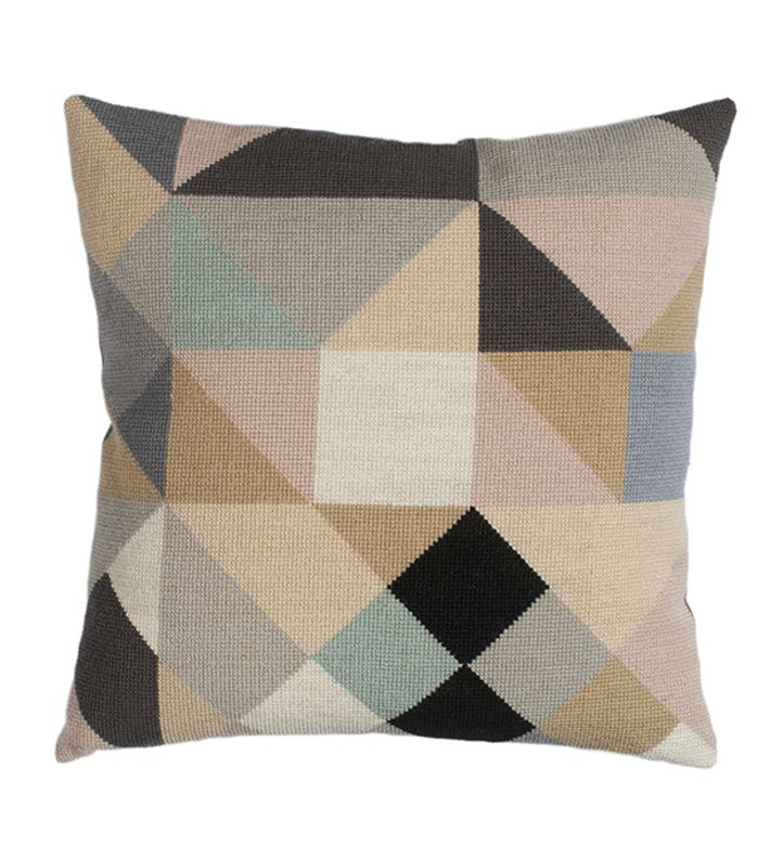 The Needle has a Point - DIY crossstitch embroidery kit.  You can buy this pillow at our webshop www.artrebelscom #artrebels #art #craft