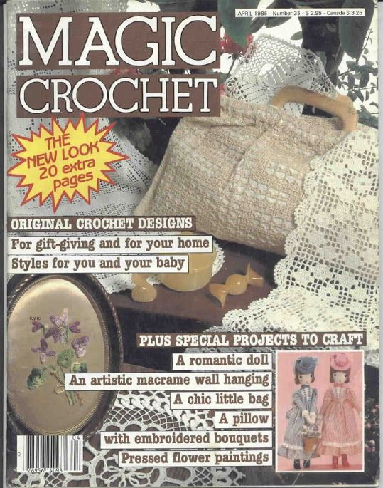 Magic Crochet Nº 35 ZÁCLONKY, DEČKY, BORDURY S NÁVODEM