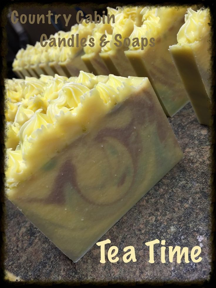 Tea Time Goat Milk Soap Made the cold process way This fragrance is very fresh-white and earl grey teas, with bergamot and a kick of ginger!