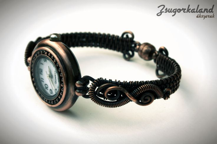 women watch made of copper wire http://www.facebook.com/Zsugorkaland