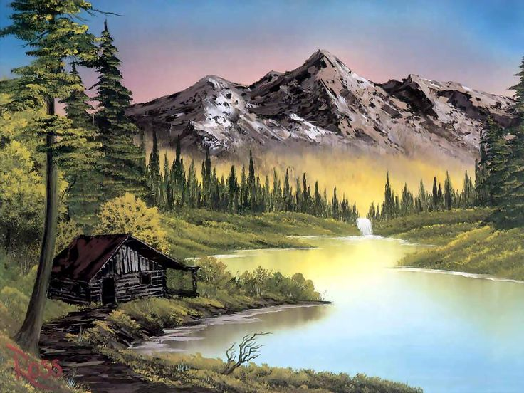 Landscape Painting by Bob Ross