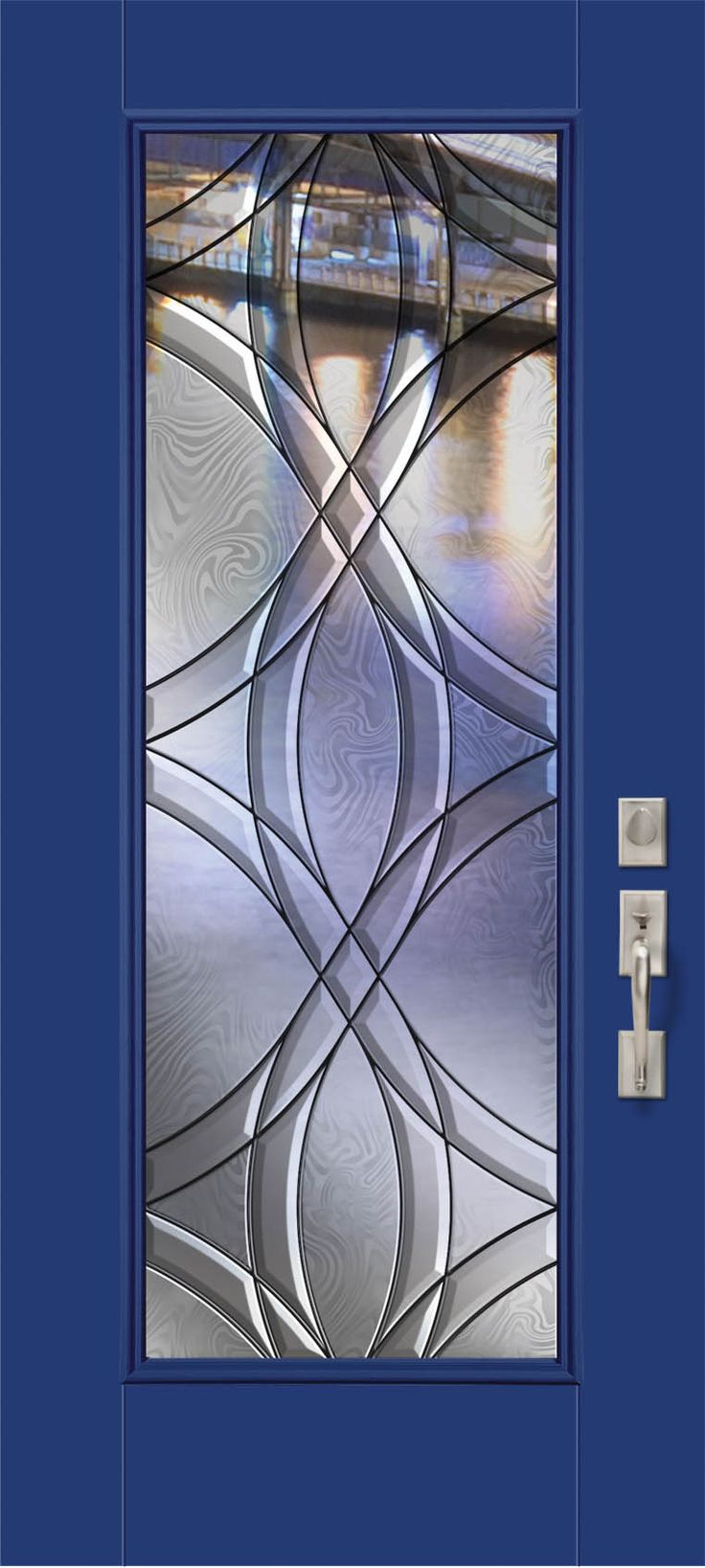 The urban contemporary appeal of the Chelsea™ glass is accentuated by the bright blue color & The 35 best images about Badger Exterior Doors \u0026 Millwork on ... Pezcame.Com