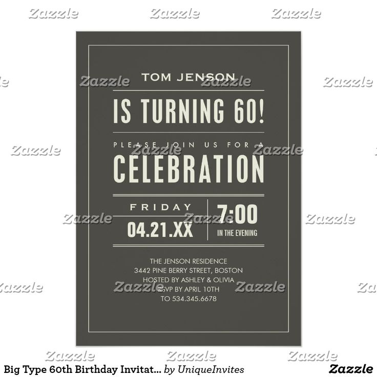 Best 25 60th birthday invitations ideas on pinterest 50th big type 60th birthday invitations stopboris Choice Image