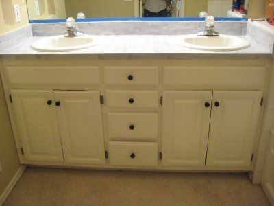 Painting Laminae Countertops   I Really Want To Try This In My Bathroom! Painted  Laminate ...