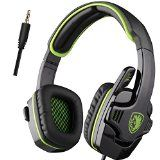 #10: Sades - SA708 Stereo Gaming Headset - Xbox One (compatible w/ Xbox One controller w/ 3.5mm headset jack) and PS4