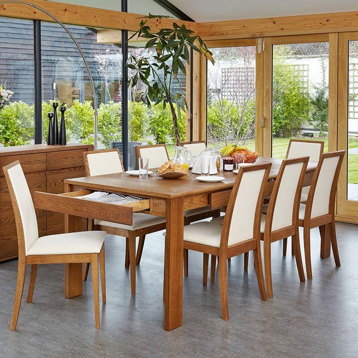 Elegant Olten Cream Dining Chair in Oak Finish Set Of