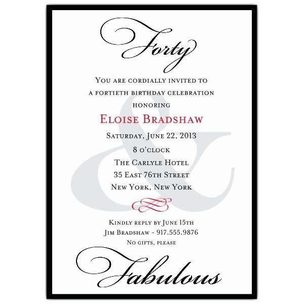 28 best images about Birthday Invitations – Black and White Party Invitation Wording