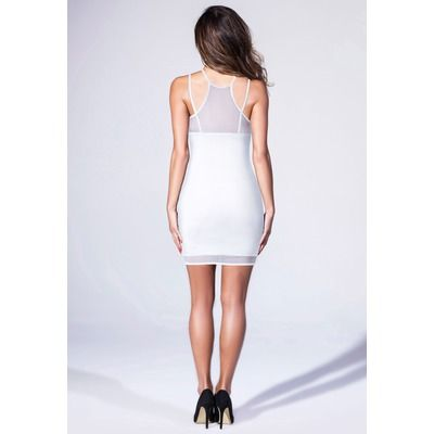Missguided White Layer Mini Dress
