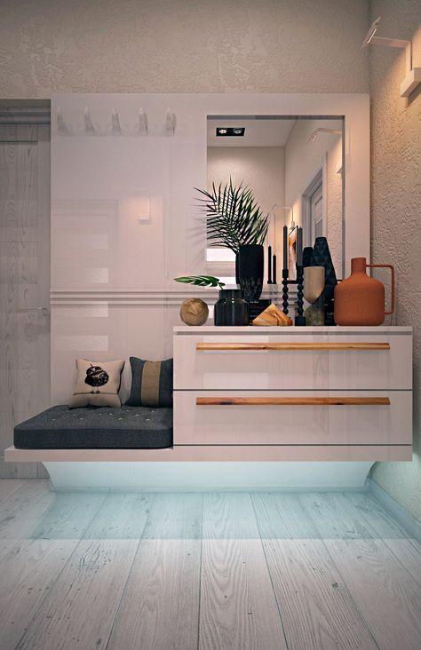 прихожай, интерьер квартиры в стиле лофт, ремонт квартиры, ремонт прихожей, студия дизайна в одессе
