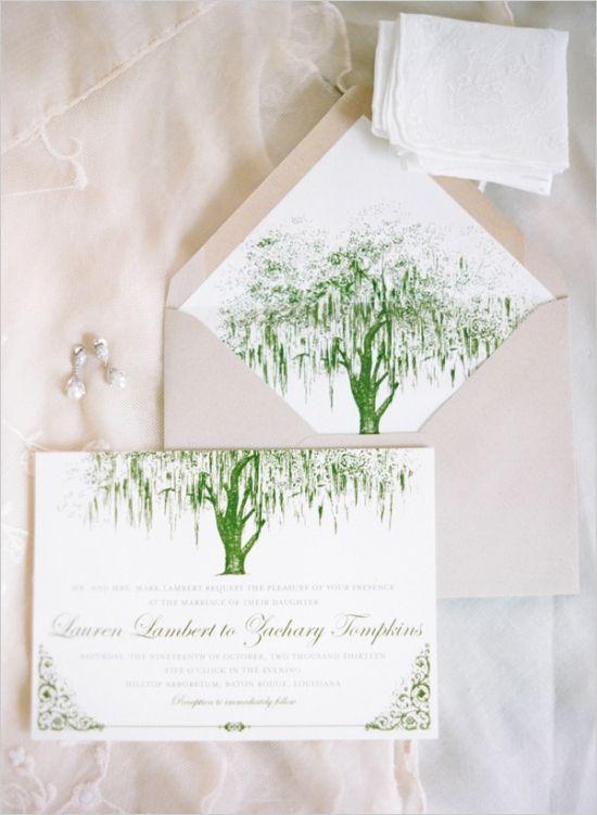 organic themed wedding invitations by Serendipity Beyond Design #weddinginvitations #weddingstationery #weddingchicks http://www.weddingchicks.com/2014/02/28/green-garden-wedding/
