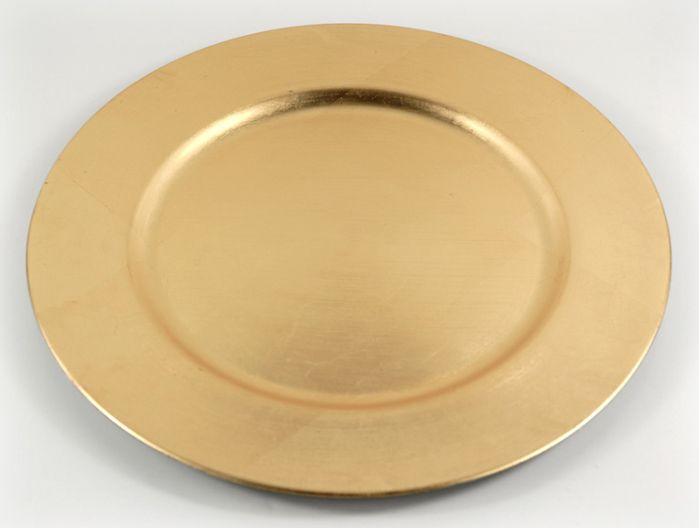 charger plates gold leaf round acrylic