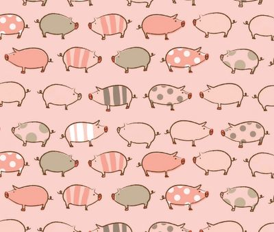 Lovely pattern... would be great for a scrapbook page. #pattern #pigs #scrapbook