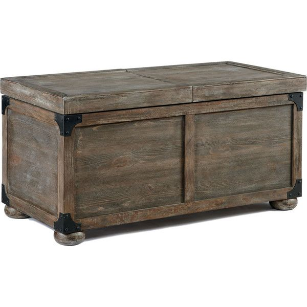 Rustic Furniture Stores Cocktail Table with Storage ($369) ❤ liked on Polyvore featuring home, furniture, tables, accent tables, decor, rustic table, rustic storage trunk, storage table, home storage furniture and storage trunk