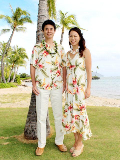 ファミリー・家族お揃いで選べるアロハシャツ・ムームー・ドレス. ハワイ、グアムなどのリゾート挙式、ハネムーンにおすすめ♪  ファミリーや夫婦お揃いで着れるアロハ