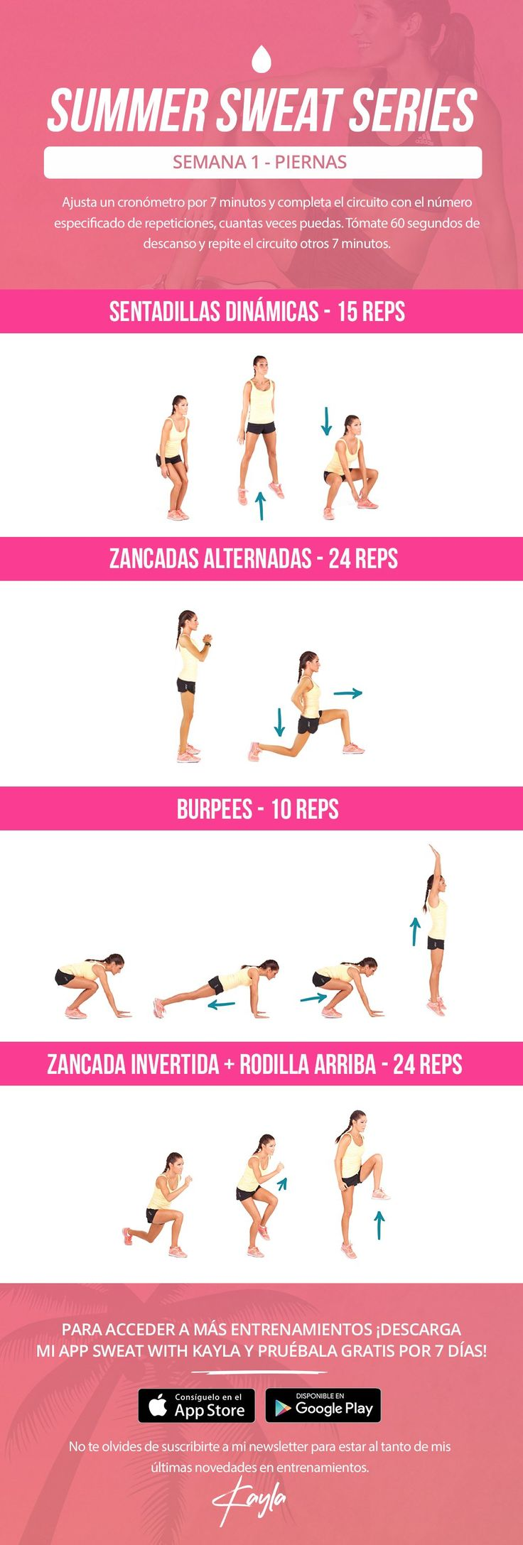 Summer Sweat Series - Semana 1 Lunes – Kayla Itsines
