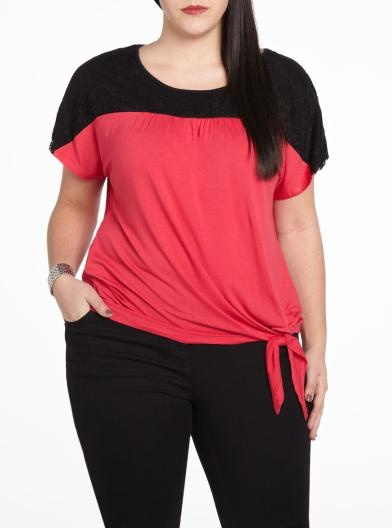 Short sleeve knotted tee - Plus Sizes | Plus Sizes | Shop Online at Reitmans