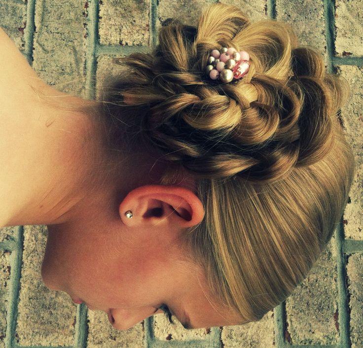 Flower Bun Hair Tutorial
