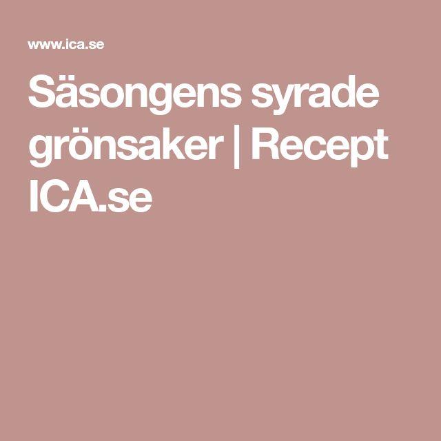 Säsongens syrade grönsaker | Recept ICA.se