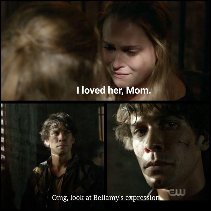 Best, rewatch the scene an you'll see what I mean. #The100 S4E1 Season 4 Episode 1, Bellarke, Bellamy, Clarke, romance
