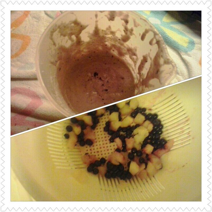 Dessert med eple & blåbær