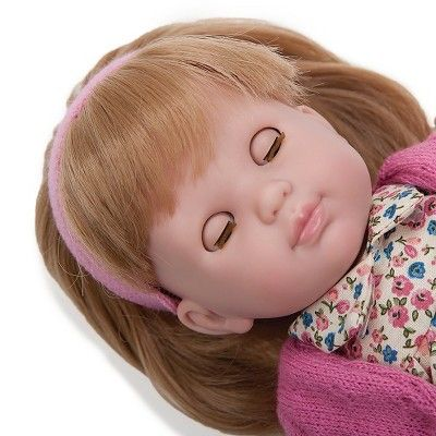 JC Toys Carla 14 Blonde Baby Doll Designed by Berenguer - Pink. Made in Spain