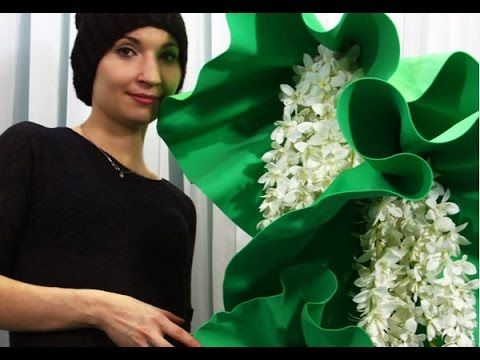Мастер класс- большие цветы из изолона( фоамирана).How to Make GIANT Tissue…