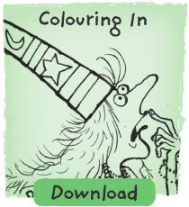 Colour in with Winnie the Witch