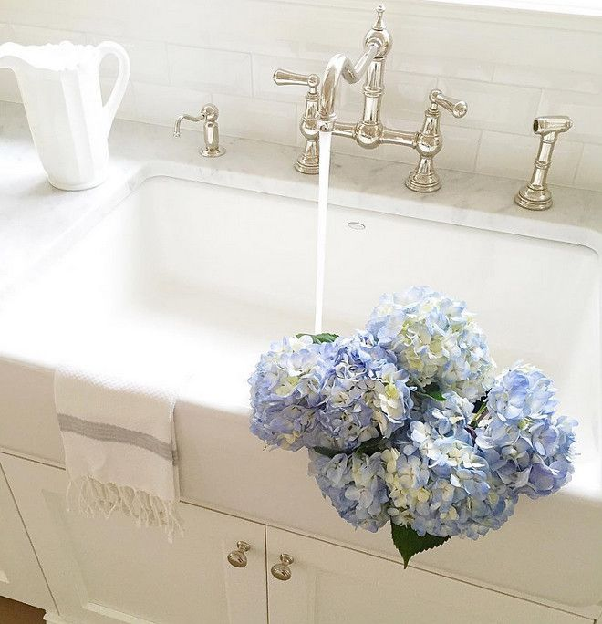 flowers.quenalbertini: Blue hydrangeas add beauty and color to the kitchen