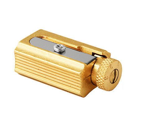 Adjustable Brass Pencil Sharpener by Dux