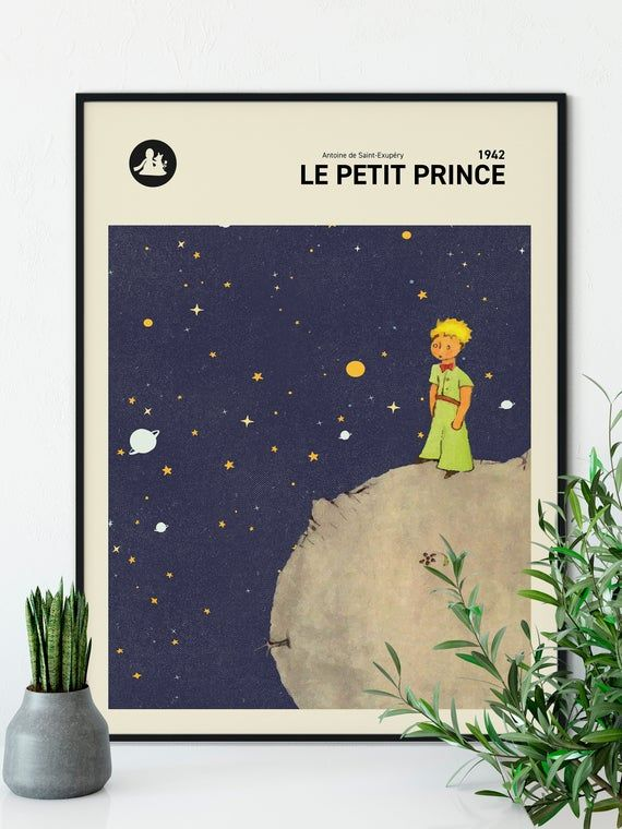 The Little Prince Wall Art Print Le Petit Prince Book Cover Etsy Le Petit Prince Photographie Retro Prince