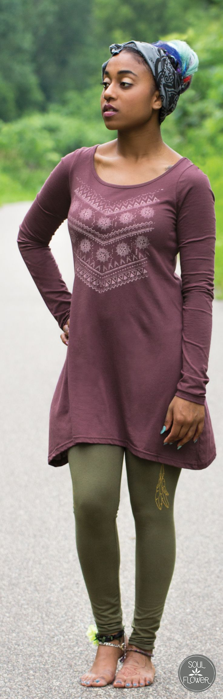 Organic Cotton Fall Tunic | Soul Flower Clothing #hippie #boho #freespirit