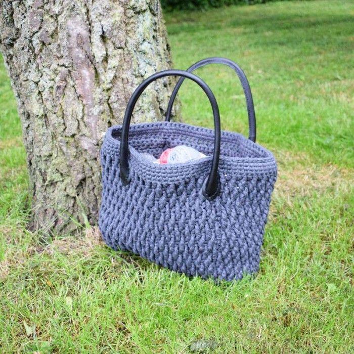 Ribbon taske med hank Opskrifter Hobbii