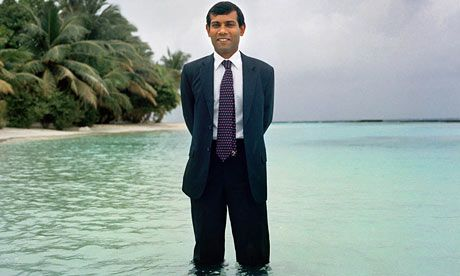 Maldives president Mohamed Nasheed