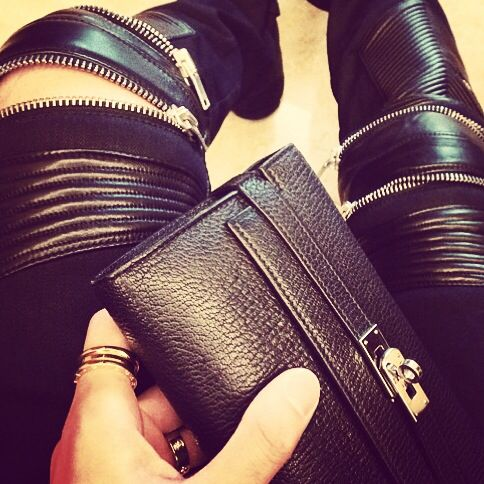#SaintLaurent jeans ,#Hermes bag