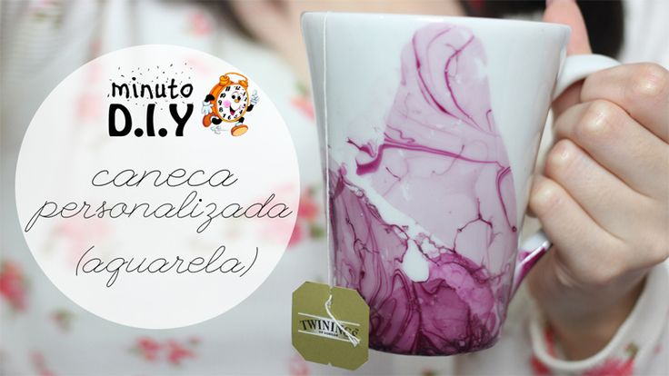 Burguesinhas - Minuto DIY - Caneca Personalizada: Aquarela - Burguesinhas