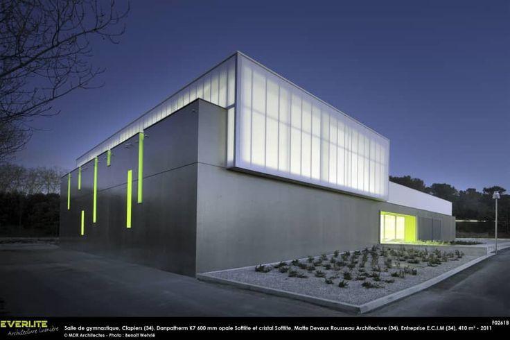 Facade polycarbonate - Salle de Gymnastique, Clapiers