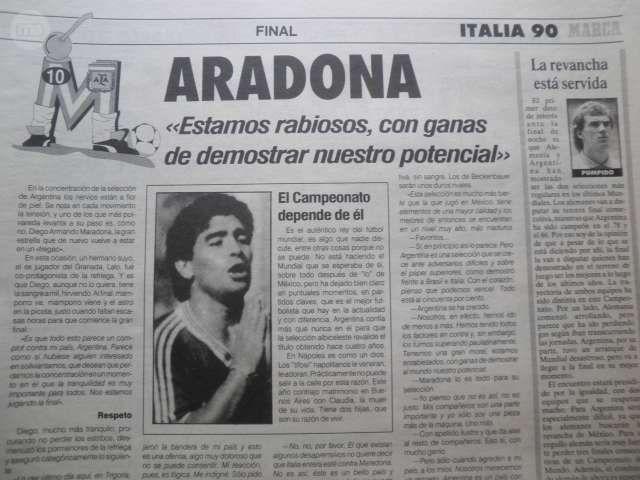 DIARIO MARCA  FINAL MUNDIAL ITALIA 1990 - foto 5
