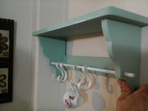 Estante repisa para cocina estilo vintage shabby chic - Modelos de percheros ...