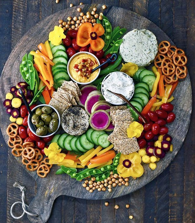 Kicking Off The Weekend The Right Way With This Giant Veggie Platter With Vegan Cheese And Some More Of Our Favorite Snacks Food Snack Platter Food Platters