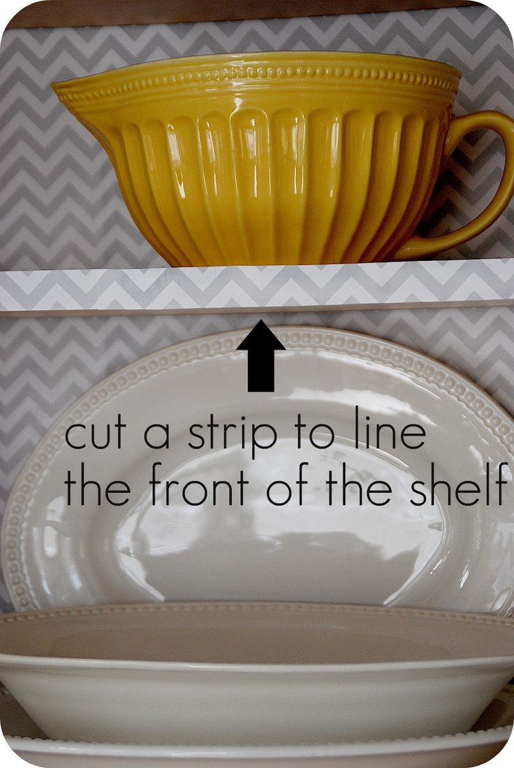 DIY Kitchen Cabinet Update with Wrapping Paper!