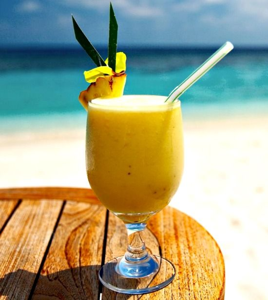 Painkiller Drink Recipe, 2-4 oz. of Pusser's Rum 4 oz. pineapple juice 1 oz. cream of coconut 1 oz. orange juice Grated fresh nutmeg