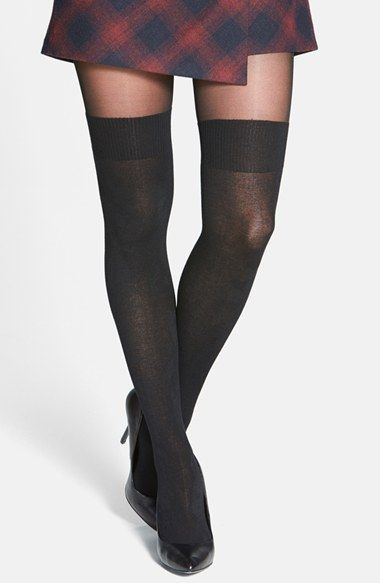 Free shipping and returns on Pretty Polly 'Secret Socks' Tights at Nordstrom.com. Mock ribbed cuffs above an opaque knit give sheer pantyhose the appearance of over-the-knee socks.