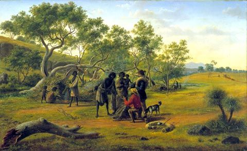 'Aborigines met on the road to the diggings'. Painting by Eugene von Guerrard http://collections.geelonggallery.org.au/emuwebgag/pages/gag/Display.php?irn=2554=