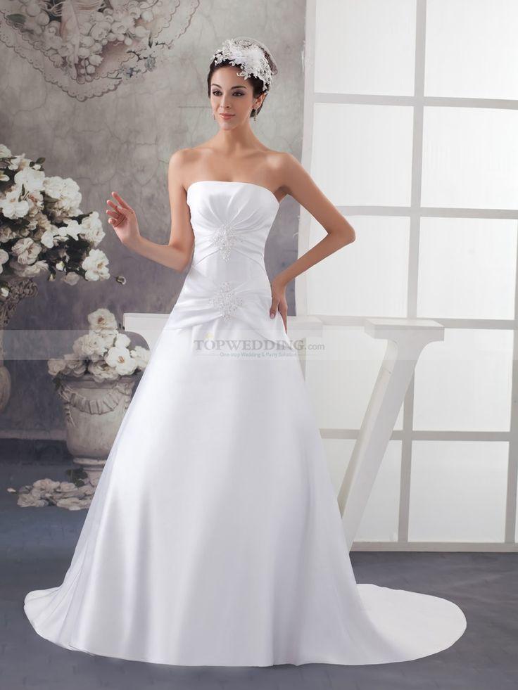 Margette - Принцесса Атласная свадебном платье с Отделка бисером