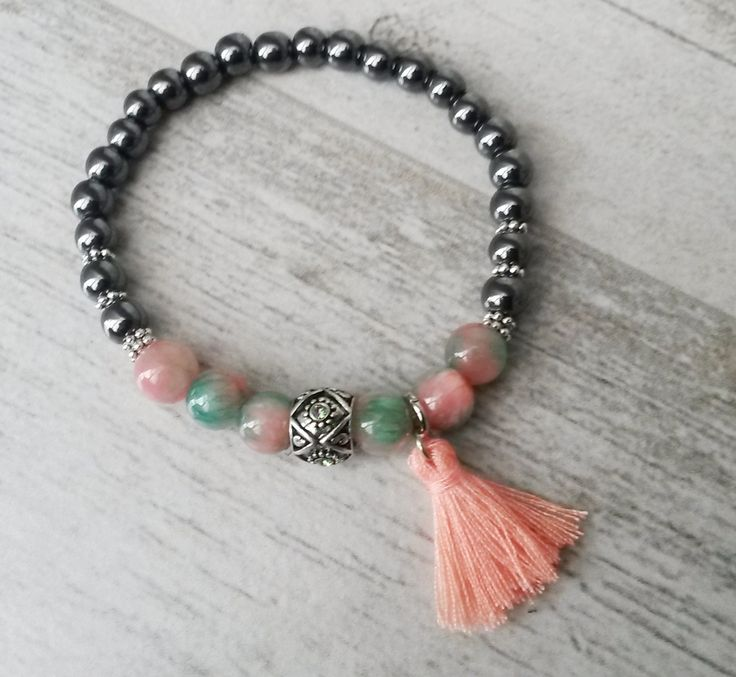 Armband mit Jade- und Hämatit