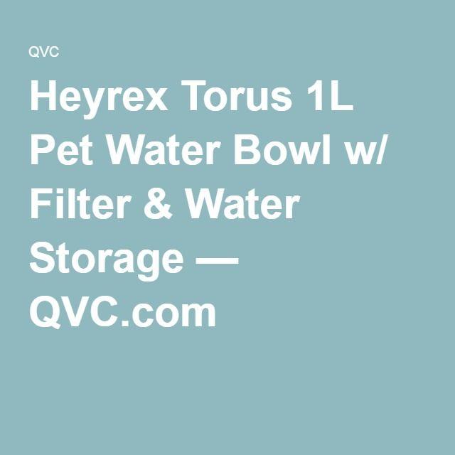 Heyrex Torus 1L Pet Water Bowl w/ Filter & Water Storage — QVC.com