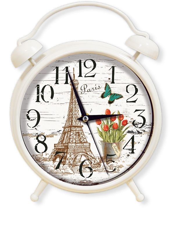Dekoratif Paris Masa Saatleri Modeli  Ürün Bilgisi ;  Materyal        : Plastik Gövde & Bombeli Gerçek Cam Ebat            : 35 cm. Mekanizma    : Akar Saniye                 Dekoratif şık masa saati Sessiz çalışır Ortama ayrı bir hava verir Ürün fotoğraf görüldüğü gibidir Sevdiklerinize bu şık ve dekoratif masa saatini hediye edebilirsiniz