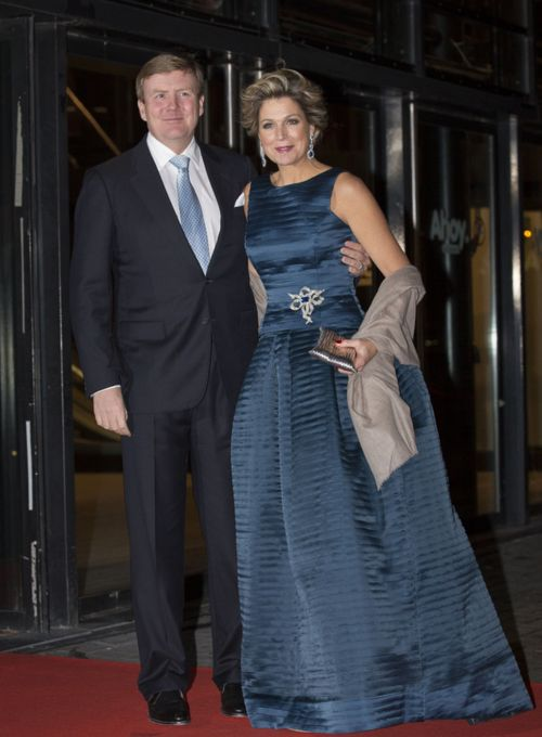 Queen Maxima and king Willem Alexander  arrives at Ahoy for the acknowledgements to her Royal Highness princess Beatrix. The Dutch people bring a musical tribute as thanks for 33 years. The party is the last activity of the National Committee inauguration. 01.02.2014,