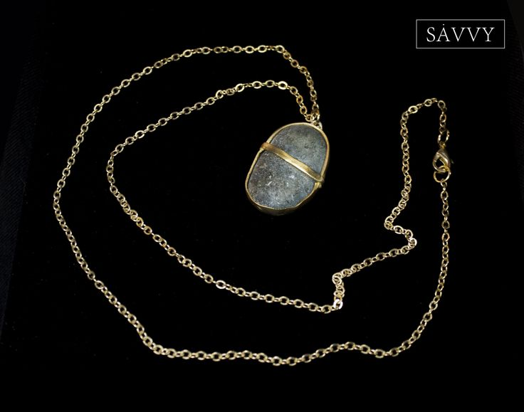 Necklace  Natural stone // brass SAVVY jewellery, Poland  https://www.facebook.com/SAVVYjewellery